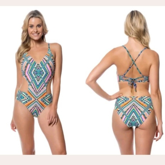 389c4cc1f9a Jessica Simpson Swim | Aztec Print Monokini | Poshmark